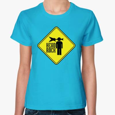 Женская футболка Рок в голове