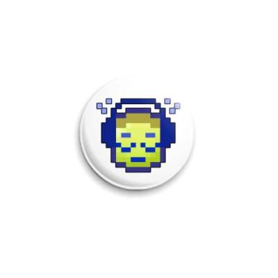 Значок 25мм  Музыка. ICQ-статус.