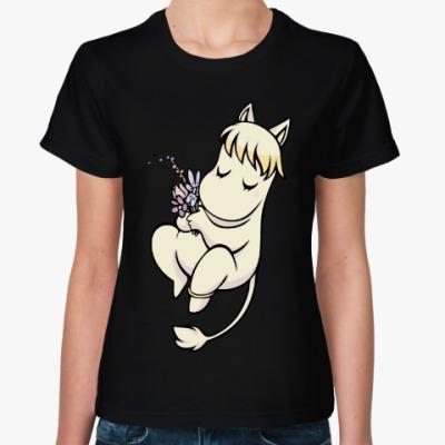 Женская футболка Фрекен Снорк и Муми-тролль