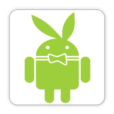 Костер (подставка под кружку) Андроид плейбой