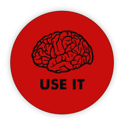 Костер (подставка под кружку) Мозг