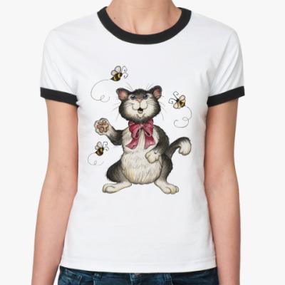 Женская футболка Ringer-T Охота на пчёл