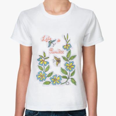 Классическая футболка  'Цветочная'