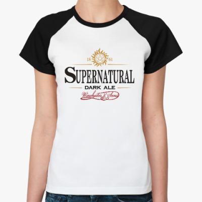 Женская футболка реглан Supernatural - Темный эль