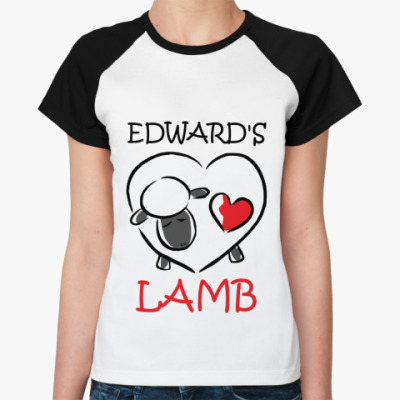 Женская футболка реглан Edward's lamb