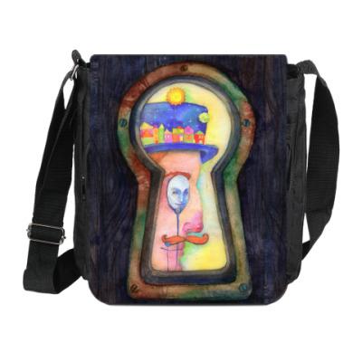 Сумка на плечо (мини-планшет) Замочная скважина