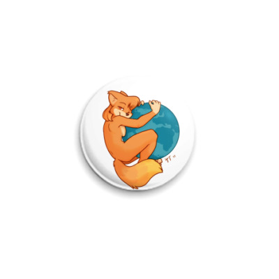 Значок 25мм Fire fox user