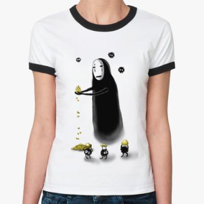 Женская футболка Ringer-T Безликий