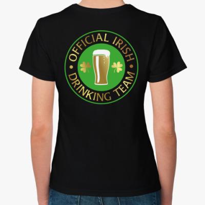 Женская футболка Drinking team