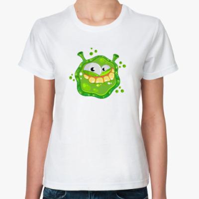 Классическая футболка Монстр. НЛО. Страшилка.