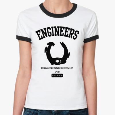 Женская футболка Ringer-T Чужой. Инженеры