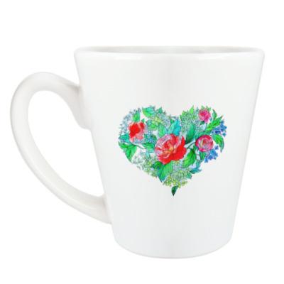 Чашка Латте Весна в сердце