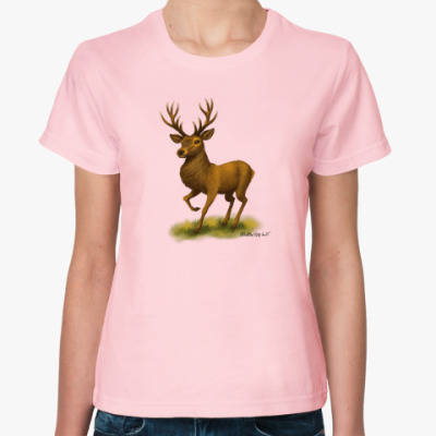 Женская футболка 'Олень'