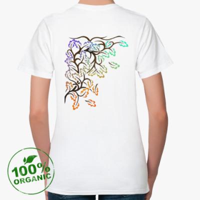 Женская футболка из органик-хлопка Листья