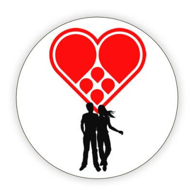 Костер (подставка под кружку) Любовная пара