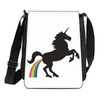 Сумка-планшет Единорог и радуга