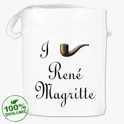 Сумка Я люблю Рене Магритта (трубка)