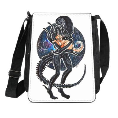 Сумка-планшет Чужой и Кот Alien 1979