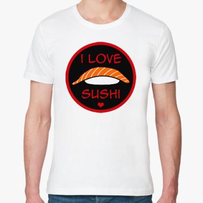 Футболка из органик-хлопка Я люблю суши