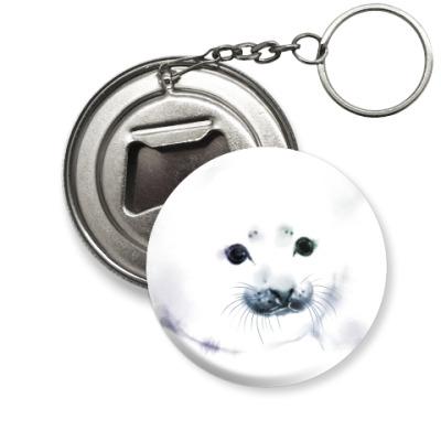 Брелок-открывашка Малыш тюлень
