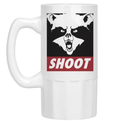 Пивная кружка Raccoon Shoot