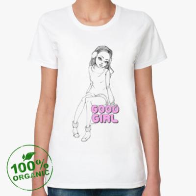 Женская футболка из органик-хлопка Good girl