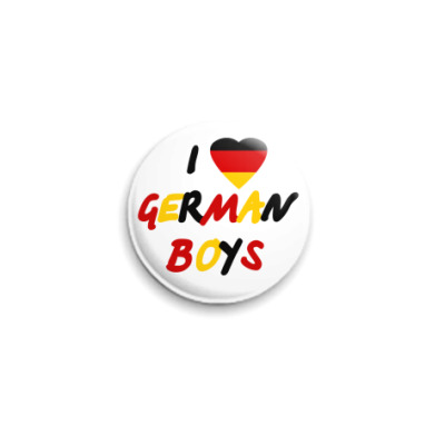 Значок 25мм I love German boys