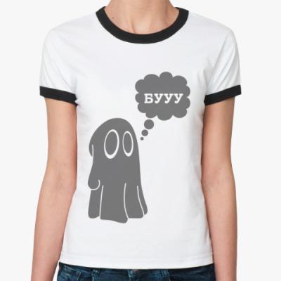 Женская футболка Ringer-T Приведение