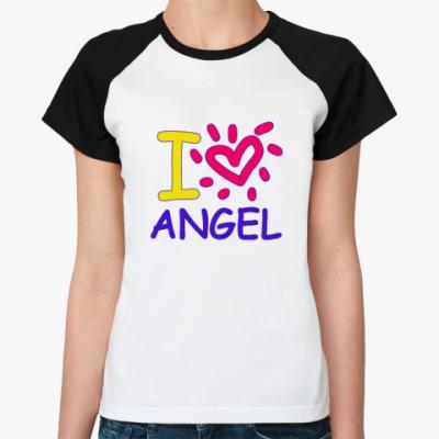 Женская футболка реглан Supernatural - Ангел
