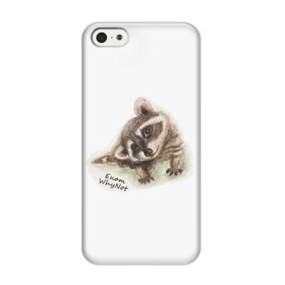 Чехол для iPhone 5/5s Жизнелюбивый енот