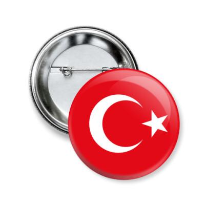 Значок 50мм Турция, Turkey