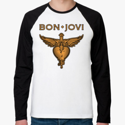 Футболка реглан с длинным рукавом Bon Jovi