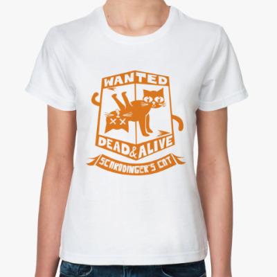 Классическая футболка Кот Шредингера. Schredinger's
