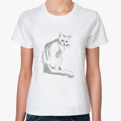Классическая футболка 'Кот'
