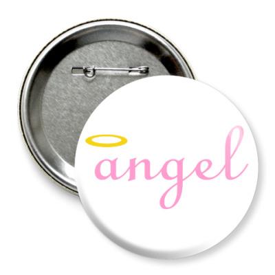 Значок 75мм Ангел
