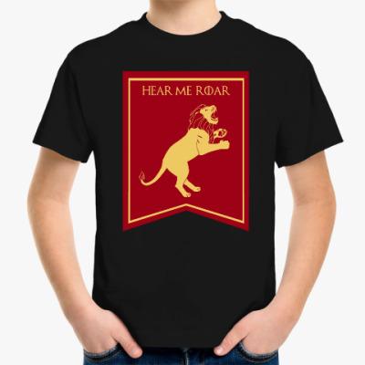 Детская футболка Дом Ланнистеров