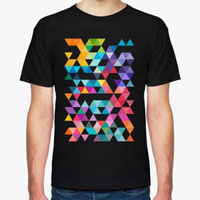 Футболка Разноцветные треугольники