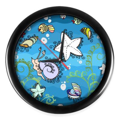 Настенные часы Морское дно