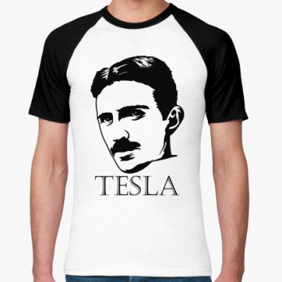 Футболка реглан Tesla