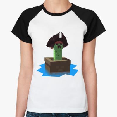 Женская футболка реглан Криперы Карибского моря