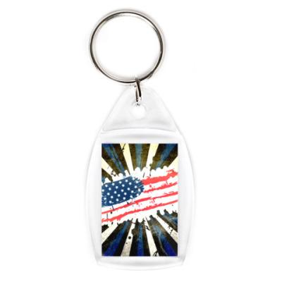 Брелок Американский флаг. Гранж.