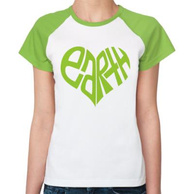 Женская футболка реглан Earth Heart