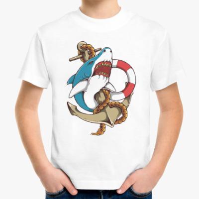 Детская футболка Море. Акула.