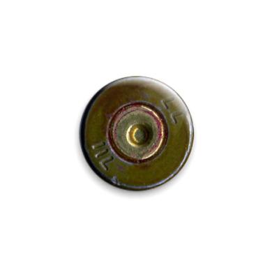 Значок 25мм  Гильза от Калашникова