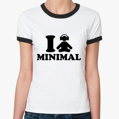 Женская футболка Ringer-T I minimal