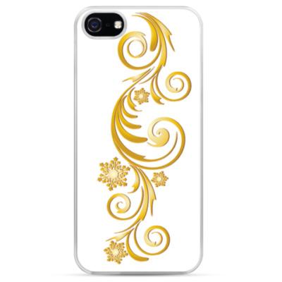 Чехол для iPhone золотые узоры