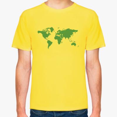 Футболка Карта мира - Шелдон Купер