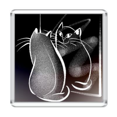 Магнит Отражение Кота-