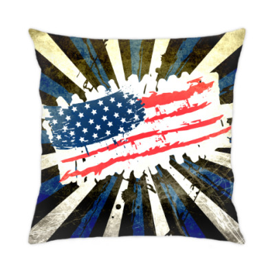 Американский флаг. Гранж.