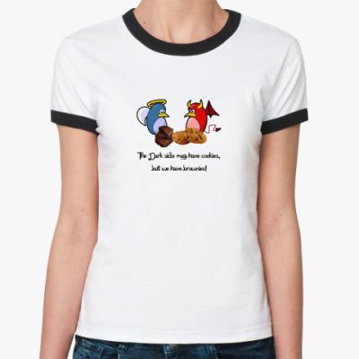 Женская футболка Ringer-T Cookies - Brownies